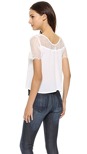 Myne Finn A Line Top with Lace