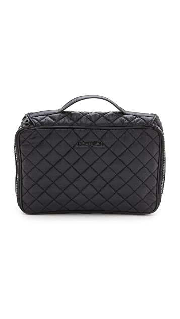 MZ Wallace Zip Round Cosmetic Case