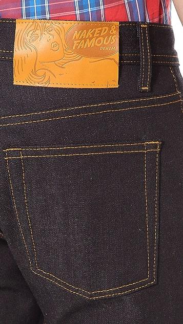Naked & Famous Weird Guy Slim Selvedge Jeans