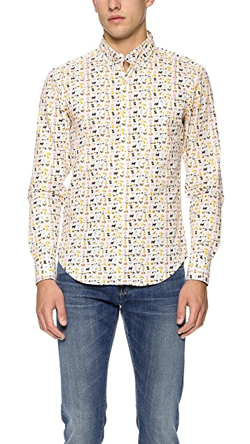 Naked & Famous Cats & Dogs Shirt