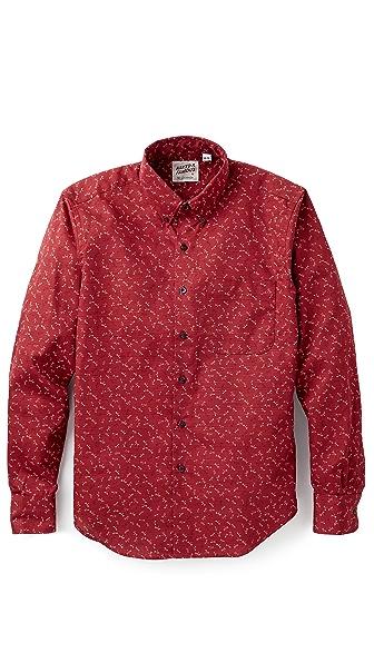Naked & Famous Kimono Dots & Flies Shirt