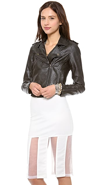 re:named Faux Leather Moto Jacket