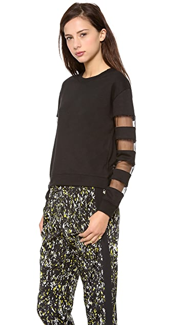 re:named Contrast Sleeve Sweatshirt