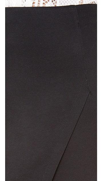 re:named High Waisted Front Slit Skirt