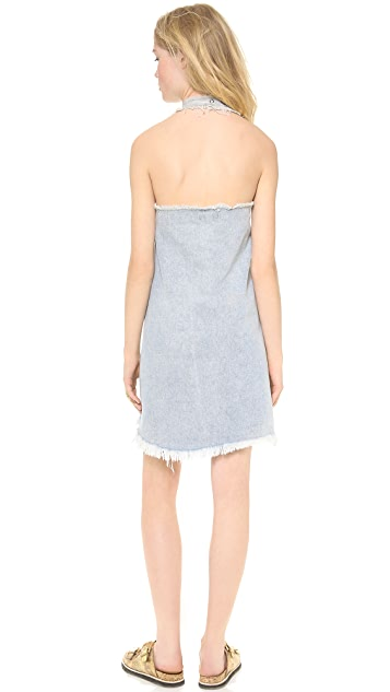 re:named Denim Halter Neck Dress