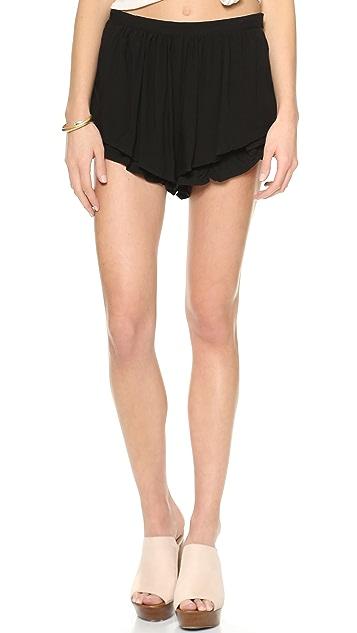 re:named High Waist Ruffle Shorts