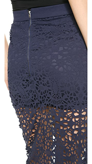 re:named Laser Cut Pencil Skirt