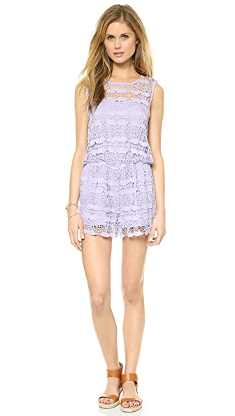 re:named Sleeveless Crochet Lace Romper