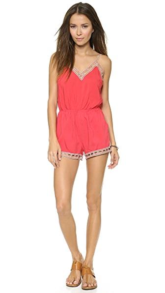 re:named Ladder Lace Romper