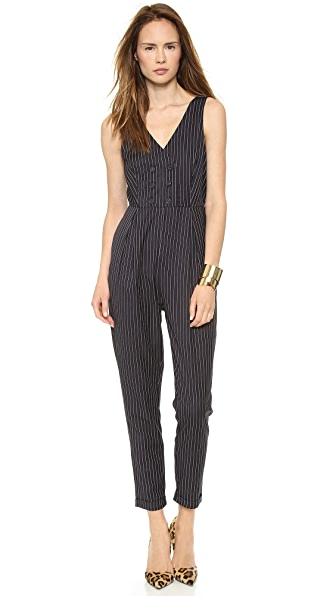 re:named Pinstripe Jumpsuit