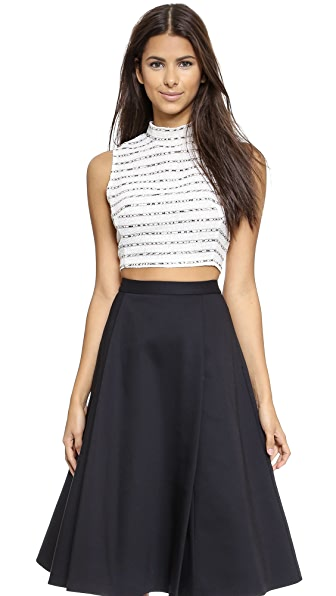 re:named Striped Crop Top