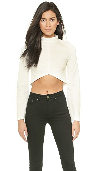 re:named Cropped Long Sleeve Blouse