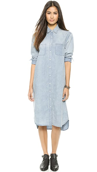 re:named Denim Shirtdress