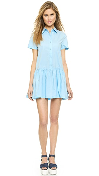 re:named Drop Waist Shirtdress