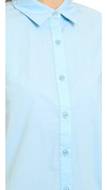 re:named Drop Waist Shirtdress