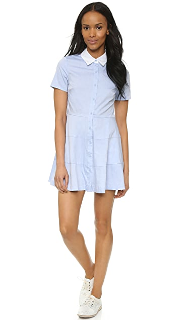 re:named Contrast Collar Shirtdress