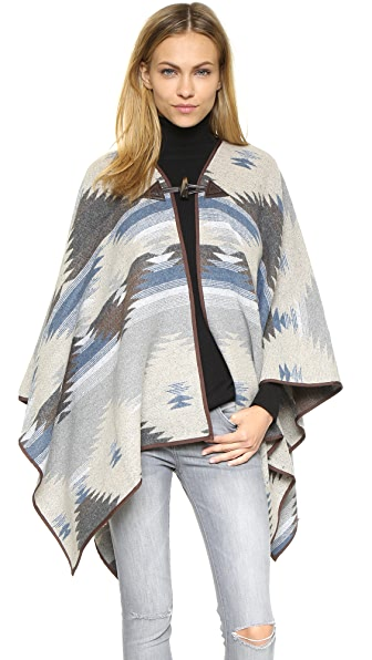 Re:Named Toggle Button Poncho - Grey/Blue