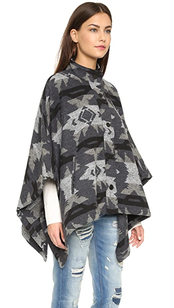 re:named Printed Poncho