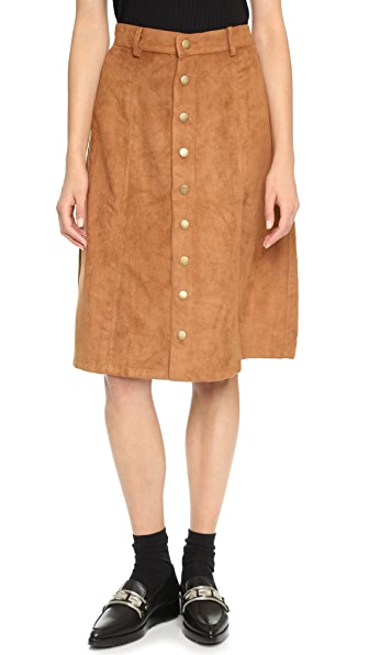 re:named Faux Suede Skirt