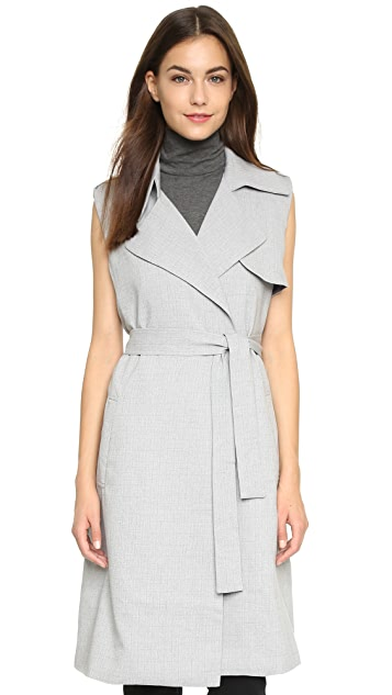 re:named Belted Trench Vest