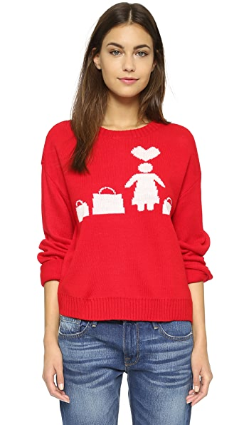Re:Named Shopping Sweater - Red