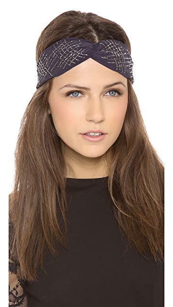 Namrata Joshipura Sequin Crossed Turban Headband