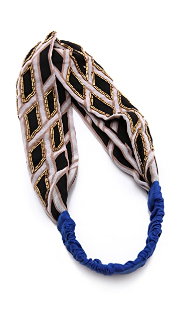 Namrata Joshipura Cross Weaved Patterned Turban Headband