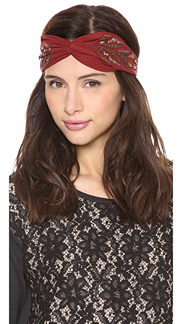 Namrata Joshipura Sequined Pattered Turban Headband