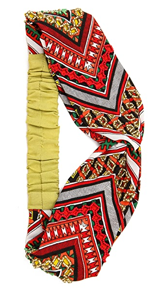 Namrata Joshipura Patterned Turban Headband