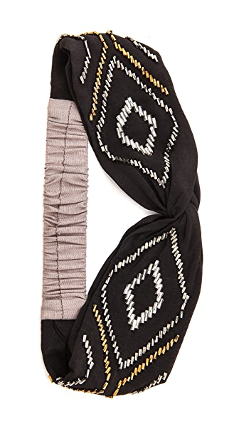 Namrata Joshipura Beaded Triangle Turban Headband