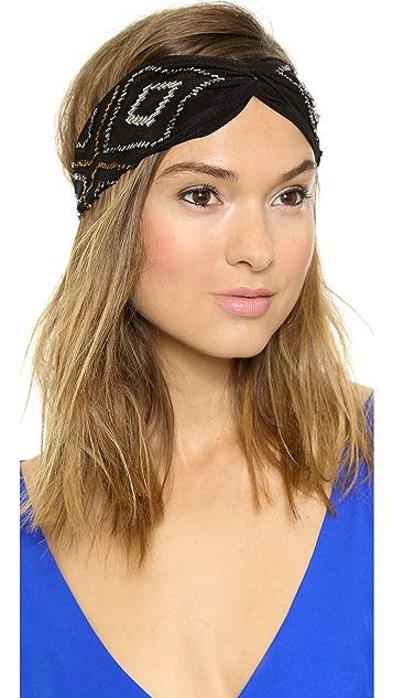 Namrata Joshipura Beaded Triangle Turban Headband