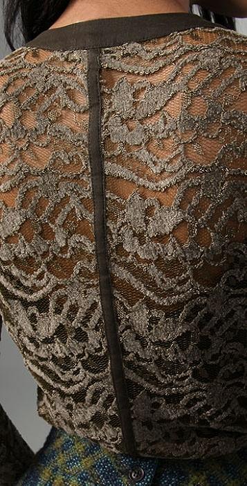 Nanette Lepore Blushing Lace Blouse