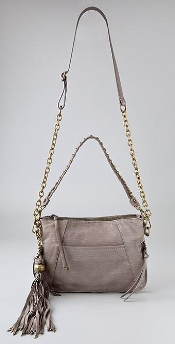 Nanette Lepore Crisscross Studded Chain Clutch