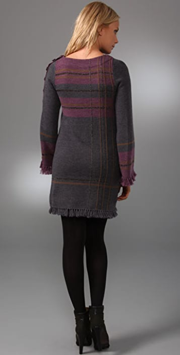 Nanette Lepore Tea n Tartan Plaid Sweater Dress