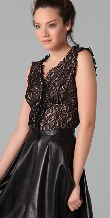Nanette Lepore Rich Bouquet Lace Top