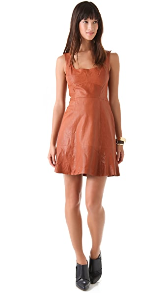 Nanette Lepore Stolen Kiss Leather Dress