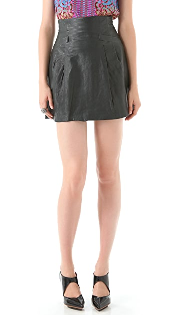 Nanette Lepore Supernatural Leather Skirt