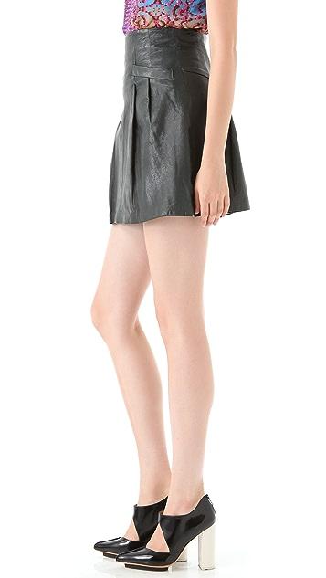 Nanette Lepore Supernatural Leather Skirt