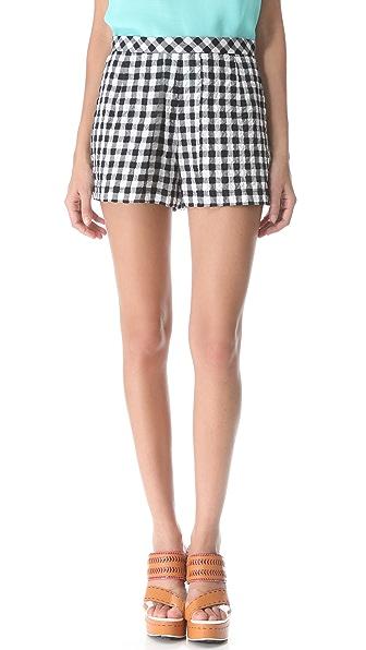 Nanette Lepore Octave Gingham Shorts