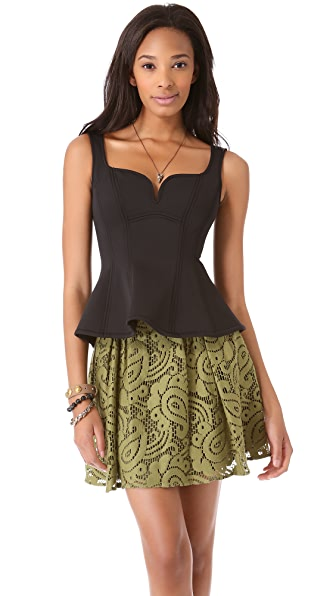 Nanette Lepore Lagoon Bustier Top