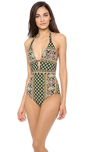 Nanette Lepore Moroccan Medallion One Piece Swimsuit
