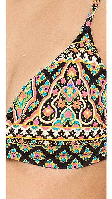 Nanette Lepore Moroccan Medallion Underwire Bikini Top