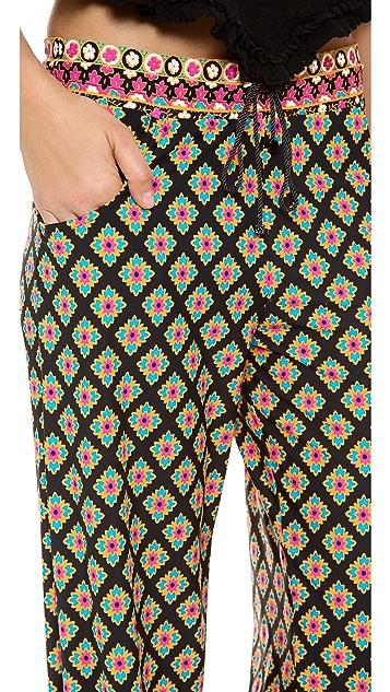 Nanette Lepore Moroccan Medallion Beach Pants