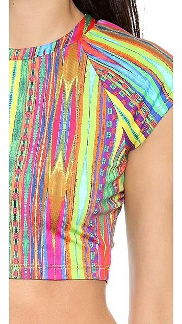 Nanette Lepore Sinaloa Stripe Rash Guard