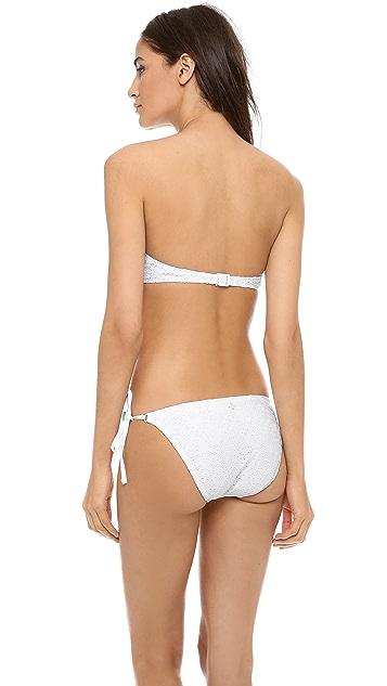 Nanette Lepore Ooh La La Eyelet Bikini Top