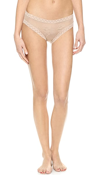Natori Bliss Lace Girl Briefs In Cafe