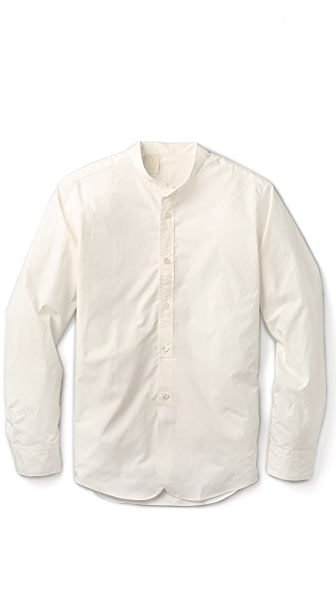 N.Hoolywood Band Collar Shirt