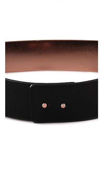 Nicholas Roxanne Rose Gold Plate Belt