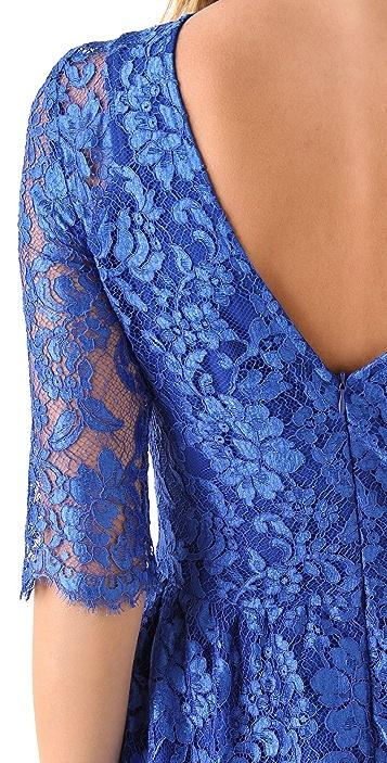 Nicholas Tia Lace Dress with V Back