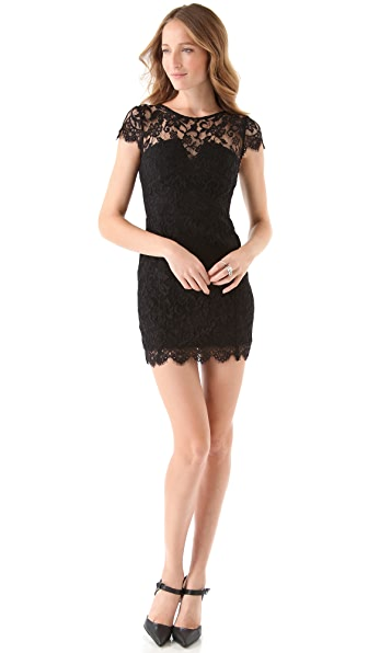 Nicholas Lace Dress with Cap Sleeves